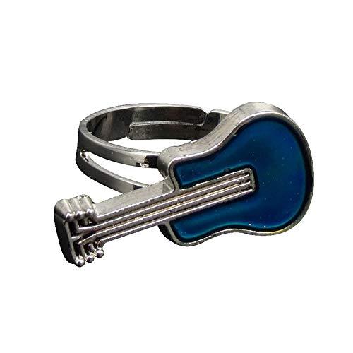 Livecity Kreative Gitarre Temperatur Stimmung Farbwechsel Frauen Offenen Ring, Mode Valentinstag Schmuck Party Bankett Charme Dekor Geschenk 1