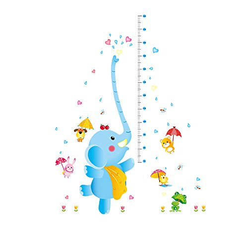 Winhappyhome Elephant Kids Height Measurement Chart Décalcomanies pour La Chambre des Enfants Garderie Kindergarten Amovible Décor Stickers