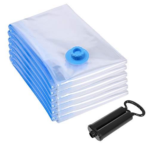 SONGMICS 6 TLG Set Vakuumbeutel für Kleidung mit Pumpe 40 x 60 cm RVM060