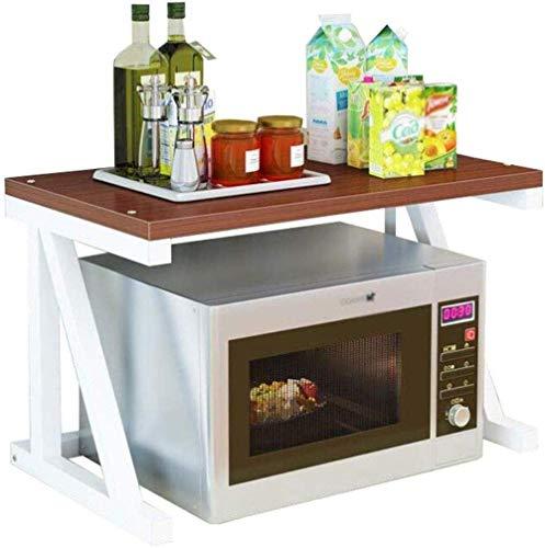 Dpliu Estantes de la Cocina Horno de microondas Soporte Spice Shelf Horno Rack Utensilio Utensilio Marco de Acero al Carbono Soporte Estante (Color : #1)