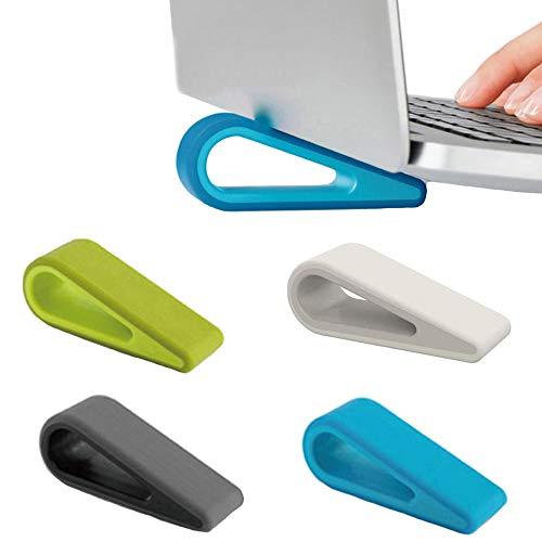 4 Pezzi Supporto Portatile per Laptop, Riser Portatili per Laptop, Mini Supporto per Laptop Invisibile, Leggero Mini Anti Scivolo Silicone Porta Laptop Ventilato per Notebook, Tastiera(4 Colori)