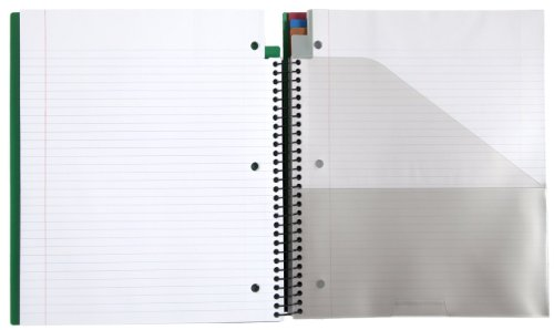 Five Star Advance 5 Subject Notebook, 11 x 10 Inches, 200 sheets, Green (72817) Photo #2