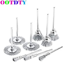 VHLL 9pcs/lot Steel Brush Wire Wheel Brushes Die Grinder Rotary Electric Tool for Engraver APR21 NEW PRODUCT