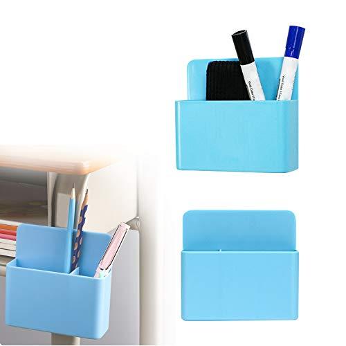Stiftehalter Magnetisch, 2 Stück Magnetisch Markerhalterung, Aufbewahrung, Organizer, Magnetstifthalter, Magnetisch Marker Halter FüR KüHlschrank, Whiteboard (Blau)