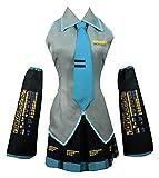 Hcxbb-1 H-ATSUNE M-IKU COSPLAY COSTUCHE, Vestido Midi Japonés Principiante Futuro Miku Cosplay Costume Uniforme escolar (Color : Costume, Size : XS)