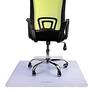 """Mind Reader OFFCMAT-CLR Office 36"""" x 48"""", Heavy Duty, Easy Glide, Floor Computer Desk Chair, Anti-Skid, Stays in Place, Clear Carpet Mat"""