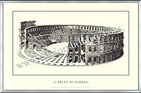 ポスター ヴェローナ larena di Verona 額装品 アルミ製ベーシックフレーム(シルバー)