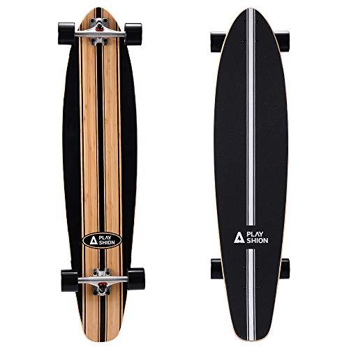 Playshion 42 inch Bamboo Longboard Skateboard Complete Cruiser Line