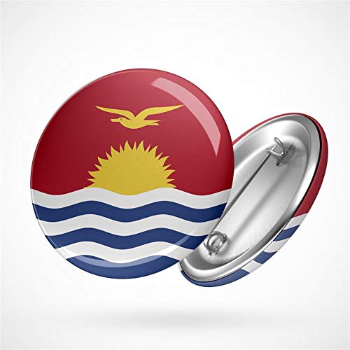 Hellweg Druckerei Button Anstecker Kiribati Flagge Ozeanien Inselrepublik Badge Abzeichen Pin