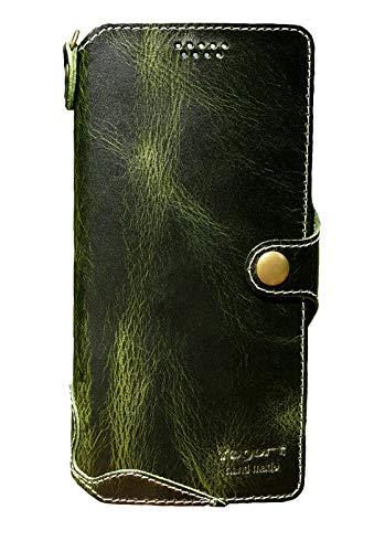 Yogurt Samsung Galaxy S21 Ultra 5G, Echt Leder Wallet Cover für Samsung S21 Ultra, Handmade Grün