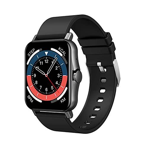 PYAIXF Tracker Mit Blutsauerstoff, Reloj Inteligente, 1,69 Pulgadas Impermeable Monitor De Sueño Pulsera De Actividad Monitor De Pulso Cardiaco Llamada Bluetooth por Hombres-Black
