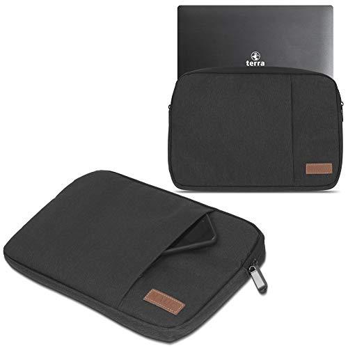 UC-Express Hülle Tasche Notebook kompatibel für Terra Mobile 1550 Schutzhülle Schwarz/Grau Cover Schutz Case 15,6 Zoll Laptoptasche, Farbe:Schwarz