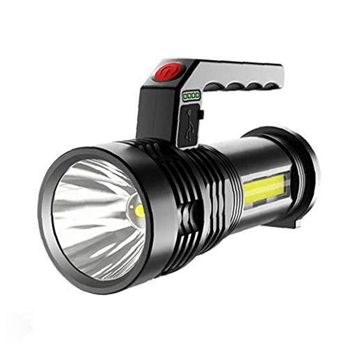 Eaarliyam LED-Taschenlampe wiederaufladbare Taschenlampe Camping-Taschenlampe tragbare Suchscheinwerfer-Fackel USB-Ladung P50 wasserdichtes Scheinwerfer für Angellicht-Laterne schwarz