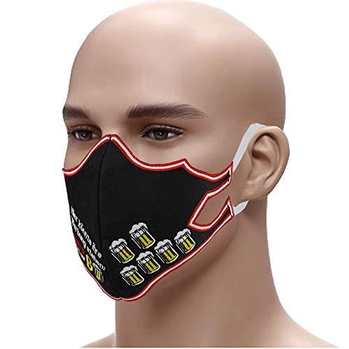 Bier für Werbung☆Schutzmaske☆Biertrinker Beer Mehrweg Mundschutz Gesichtsmaske➤Stickerei 60° waschbar Face MaskStaubschutz