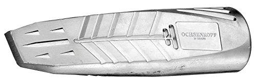 Ochsenkopf Alu-Drehspaltkeil, Geschmiedeter Sicherheitskeil zum einfachen Spalten, KWF-Standard Qualität, Hubhöhe 60 mm