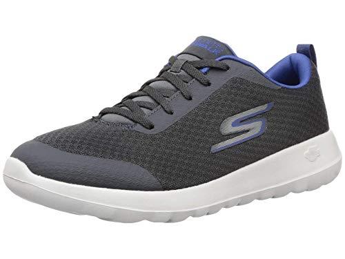 Skechers mens Gowalk Max Otis - Athletic Air Mesh Lace Up Walking Shoe, Charcoal/Blue, 10.5 US
