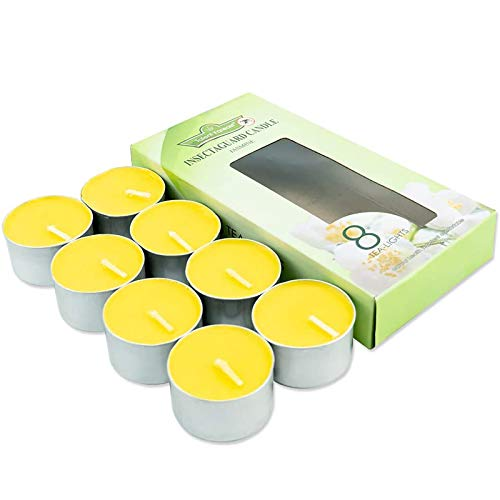 SCOBUTY Citronella Candles Outdoors,Citronella Candles,Insect Repellent Candle, Scented Candles,Insect Mosquito and Bug Repellent for Travel, Camping, Garden, Outdoor and Indoor, 8 Pack