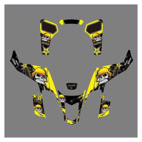 Protector de Gas de Motor para Suzuki LTZ400 LTZ 400 2003 2004 2005 2006 2007 2008 Deco Kit de Pegatinas de calcomanías de gráficos de Equipo Protector para Depósito
