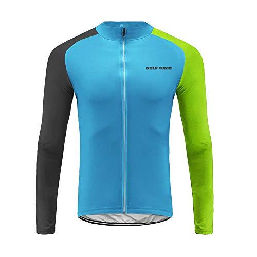 Uglyfrog Herren MTB Radsport Winter Jersey Thermisches Fahrradtrikot Vlies Thermo Langarm Shirt