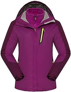 BEESCLOVER Brand New Womens Mens Professional Outdoor Sport Jacket Winter 3 in 1 Fleece Hiking Skiing Warm Coat FRH146 Women Purple XXL