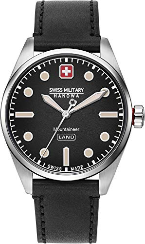 Swiss Military Hanowa Reloj Analógico para Hombre de Cuarzo con Correa en imitación de Cuero 06-4345.7.04.007