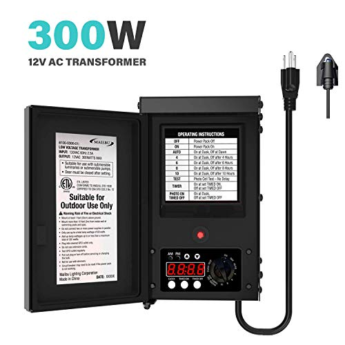 Malibu 300 Watt Power Pack with Sensor and Weather Shield for Low...