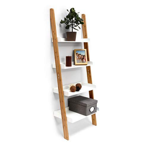Relaxdays ladderkast, wit