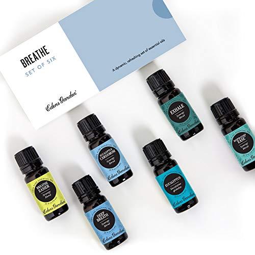 Edens Garden Breathe Essential Oil Set, 100% Pure Aromatherapy