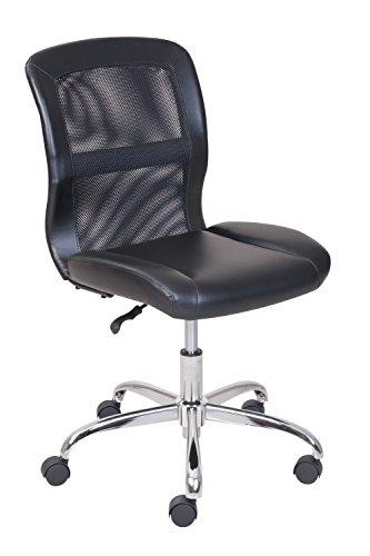 escritorio de oficina Silla Negra MALLA Y Cuero Sintético chairmart Estudio Mesa...