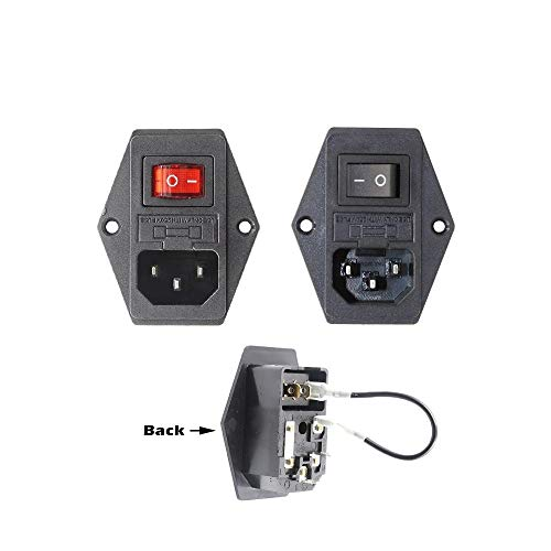 HUANRUOBAIHUO 1pc 3 in 1 Fuse stopcontact for Makerbot Ultimaker 15A 3D Printer Parts (Color : Black)