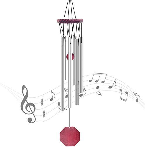 JJYHEHOT Windspiel Im Freien, Massivholz Dekorative Metall Mehrrohr Windspiele, Für Garten- Oder Innendekoration
