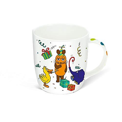 Trötsch Die Maus Jubiläumstasse Tasse in Hausverpackung: Aus Porzellan mit Geschenkverpackung