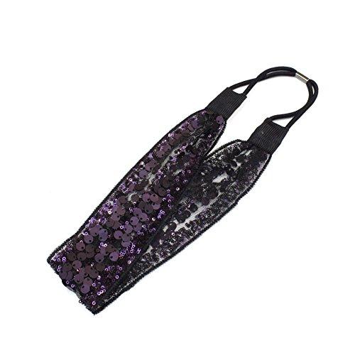 Rougecaramel haarband, pailletten, 4 cm, violet