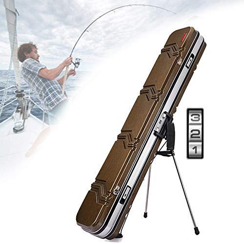TBDLG Outdoor Aluminum Alloy Fishing Rod Bag, Pvc Hard Shell Wear-resistant Fishing Gear Suitcase, Large-capacity Portable Gun Bag