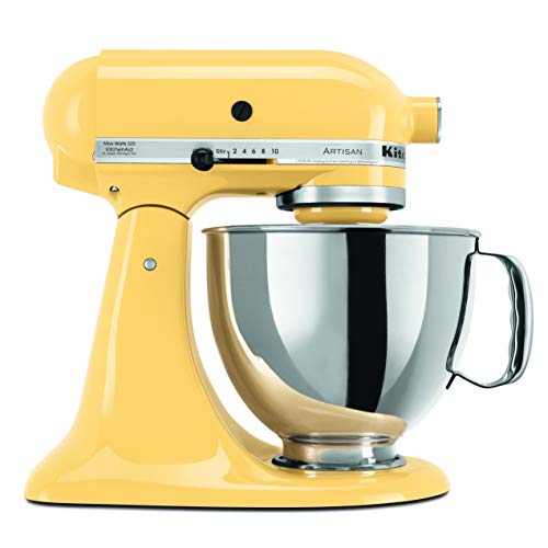 HOT DEAL! – KitchenAid KSM150PSMY Artisan Series 5-Qt. Stand Mixer with Pouring Shield – Majestic Yellow.