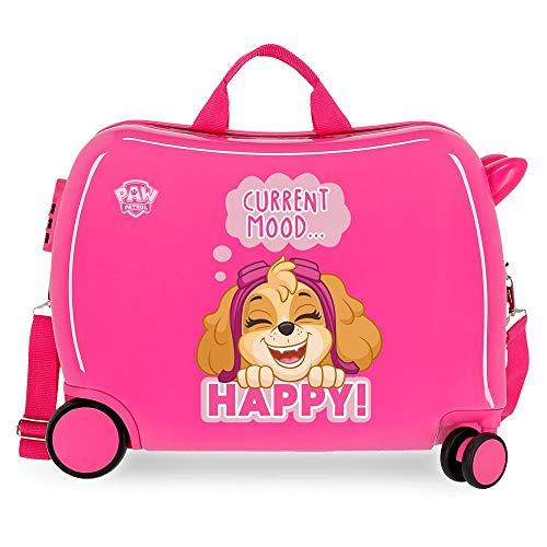 Paw Patrol La Patrulla Canina Playful Maleta Infantil Rosa 50x39x20 cms Rígida ABS Cierre combinación 38L 2,1kgs 4 Ruedas Equipaje de Mano