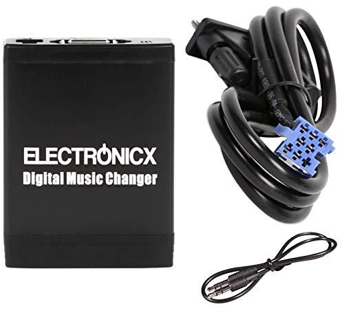 Electronicx Elec-M06-SMT Adattatore musica di viaggio MP3 USB SD AUX compatibile con Lancia, Fiat, Marea, Smart Roadster