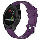 Lswell Bands Compatible with Garmin Vivoactive 3,20mm Quick Release Soft Silicone Replacement Fitness Bands for Garmin Vivoactive 3/ Garmin Forerunner 645 Music/Samsung Galaxy 42mm Smart Watch
