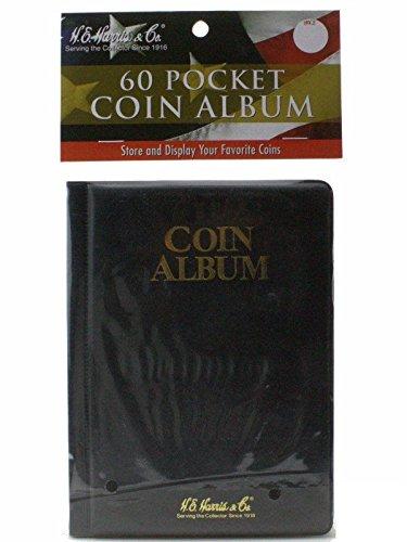 60 Pocket - HE Harris Coin Album, Hold Mylar or Flips