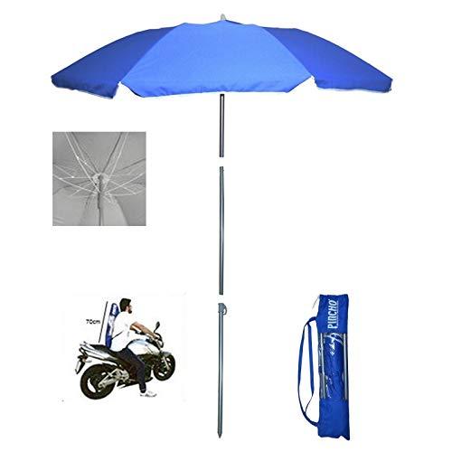Pincho Sombrilla Mochila Plegable 180CM Ideal para Moto y Bicicleta.Protección Solar UPF50+ (bloquea 99% de Rayos UV), Muy Ligera.1,5 kg, Medida de la sombrilla Dentro de la Funda 70cm.