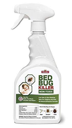 Duuda Bed Bug Organic Killer Spray, Fast and Sure Kill with Extened Residual Protection, Natural & Non-Toxic, Child & Pet Friendly-22oz