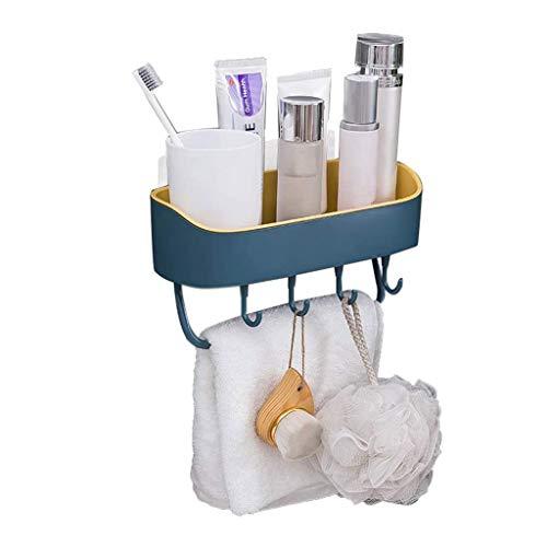 ZYING Simple desagüe del baño Estante, sin Necesidad de Aseo ponche de Almacenamiento en Rack, montado en la Pared de Almacenamiento en Rack Estante de la Pared
