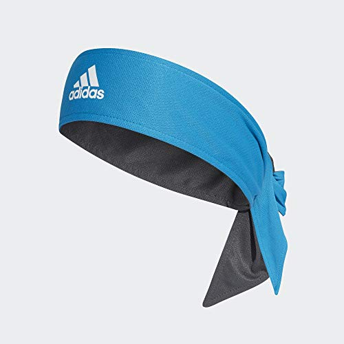 adidas Tennis TB A.R. Stirnband, Unisex, Erwachsene, Blau/Weiß/Grau, Einheitsgröße