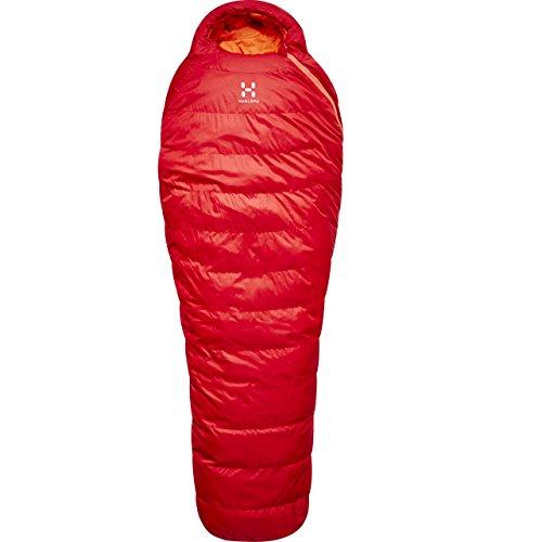 Haglöfs Ursus -2 Schlafsack, Unisex, Erwachsene, Unisex-Erwachsene, HA415090, Intensives Rot, 175L