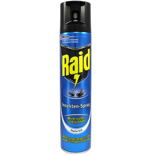 3 x Raid Insekten Spray je 400ml, gegen Fliegen, Mücken sowie andere fliegende Insekten.