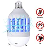 GLOUE Bug Zapper Light Bulb, 2 in 1 Mosquito...