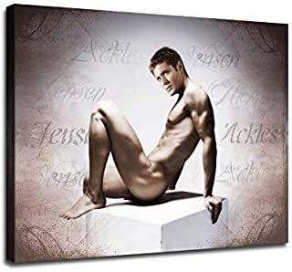 Jensen Ackles Poster Printed on Canvas.HD Print Star Portrait Poster Decoration Painting Oil Painting Living Room Home Dec...