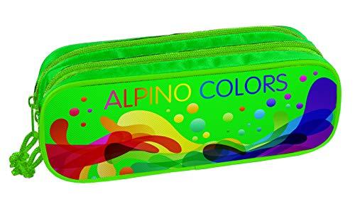 Alpin UA000139 etui met dubbele ritssluiting, 23 x 9,5 x 7 cm, meerkleurig