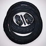 CST 2x 12 Zoll Reifen & DV Schlauch 12 1/2 x 2 1/4 | ETRTO: 57-203 | C1456 Fahrrad Kinderwagen Anhänger Buggy