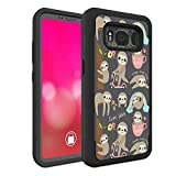 Galaxy S8 Active Case (Do Not Fit S8), Rossy Heavy Duty Hybrid TPU Plastic Dual Layer Armor Defender Protection Case Cover for Samsung Galaxy S8 Active,Cute Sloth